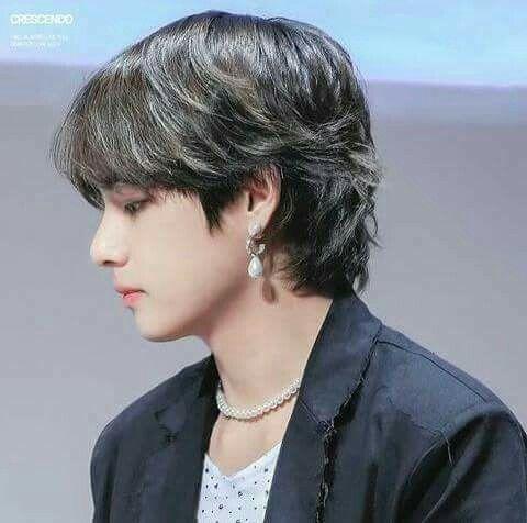 taehyung mullet hair ••   Mullet hairstyle