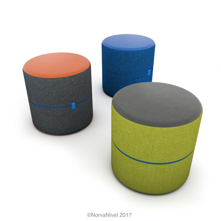 The NorvaNivel Spot Ottoman is available in a range of color and fabric combinations and 3 heights. A lightweight, flexible seat for classrooms.