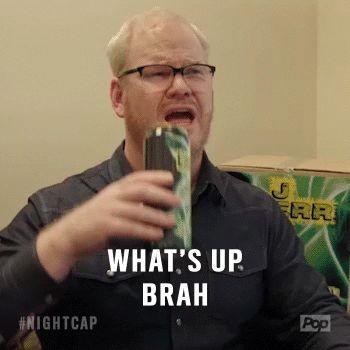 New party member! Tags: whats up poptv jim gaffigan pop tv nightcap whats up brah