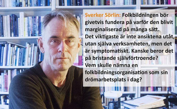 Sonja Schwarzenberger möter idéhistorikern Sverker Sörlin, som går tillbaka i tiden för att förklara problemen svensk folkbildning står inför i dag.