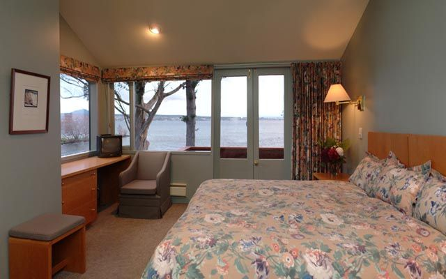 View from master bedroom out to lake Taupo.