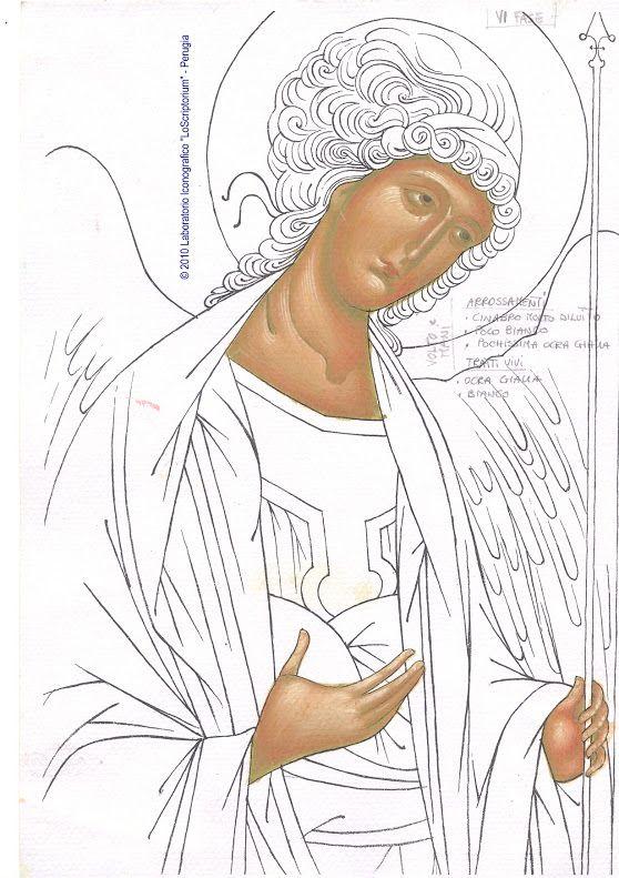 Studio icona Arcangelo Michele -  twarz 07