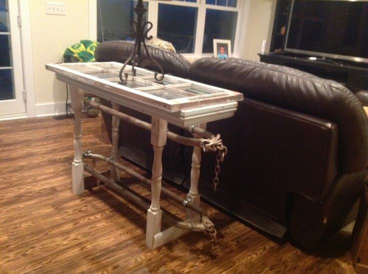 Sofa Table Made From Cow Stanchions From Grandpa S Barn