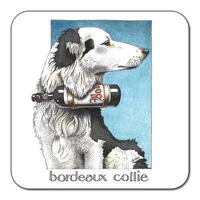 Simon Drew Bordeaux Collie Coaster