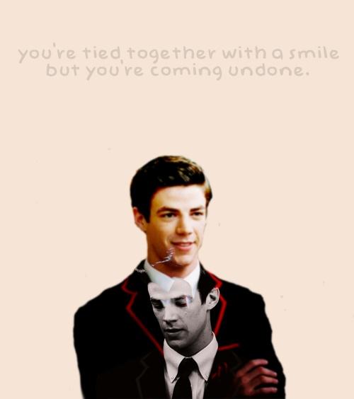 Grant Gustin as Sebastian Smythe on Glee.