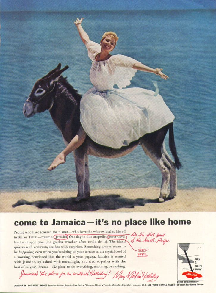 0 Mary Martin for Jamaica Tourist Board ad 1959