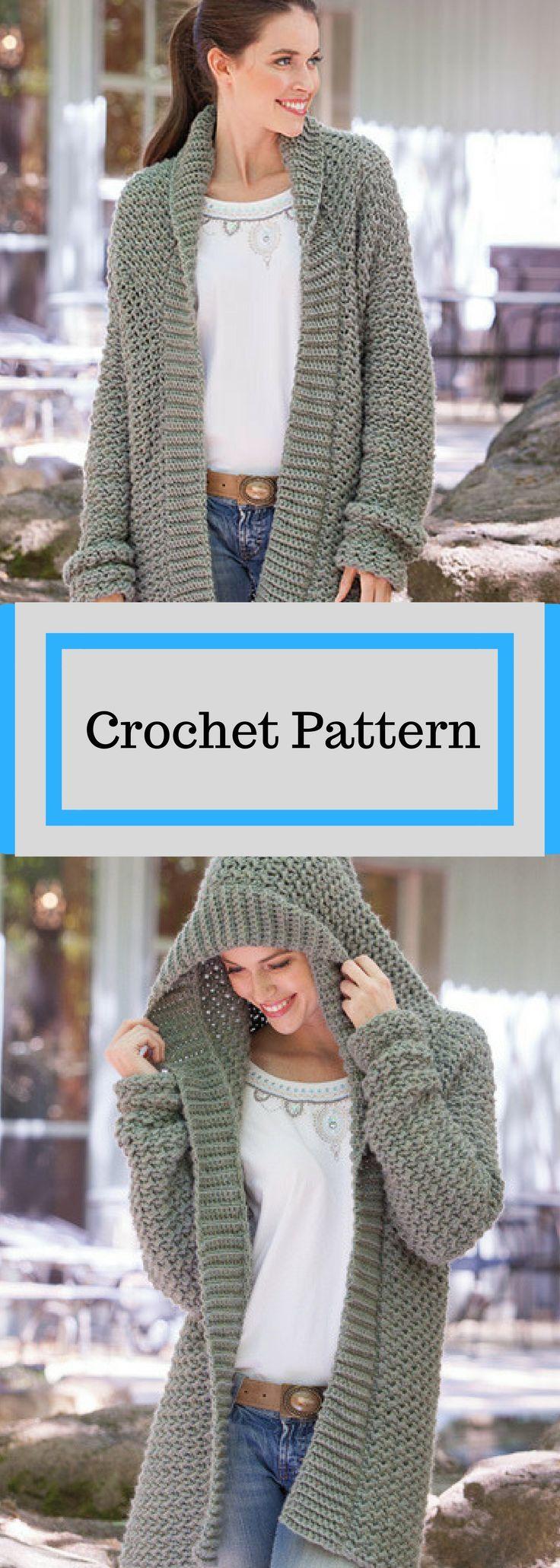 Weekend Casual Hooded Sweater Crochet Pattern Avai…
