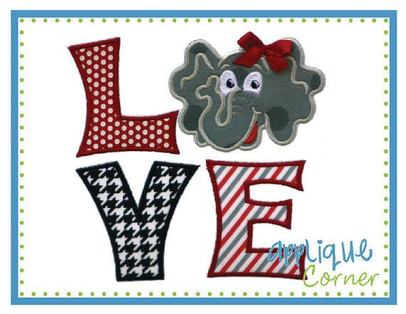 Do You LOVE Alabama Football  Applique for by DesignsbyMichelleL, $22.00. Have to get for Haley!