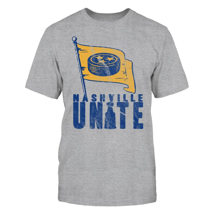 Nashville Hockey UNITE T-Shirt, The Nashville Predators have made the Stanley Cup playoffs! Come on Nashville, lets 'Stand Together' and stand UNITED!  ,  Available Products:          Gildan Unisex T-Shirt - $22.95 Gildan Women's T-Shirt - $24.95 District Men's Premium T-Shirt - $24.95 District Women's Premium T-Shirt - $25.95 Next Level Women's Premium Racerback Tank - $25.95 Gildan Youth T-Shirt - $22.95 Pack of 4 stickers - $10.00       . Buy now…
