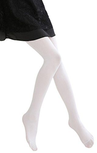 af25ee5d101 BogiWell Kids Girls Solid Footed Tights Seamless Opaque Pantyhose Stockings
