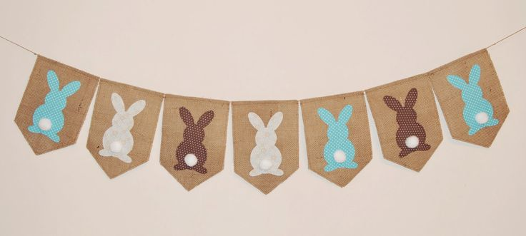 Easter garland, bunny