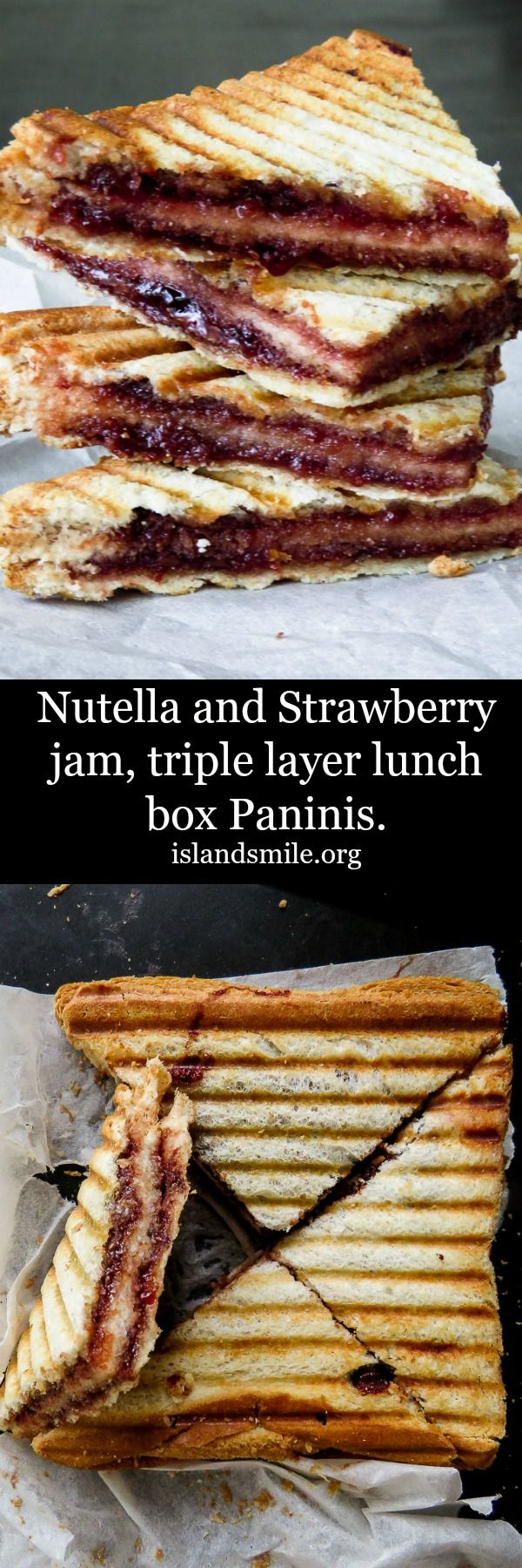 Nutella and Strawberry jam, triple layer Panini can be a fun breakfast  for the kids to have on weekends or for the Nutella loving adult just like you.