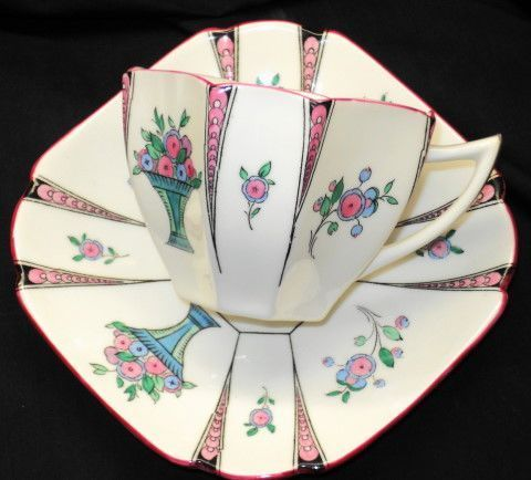 Shelley Queen Anne Pink Vase Tea Cup and Saucer | eBay