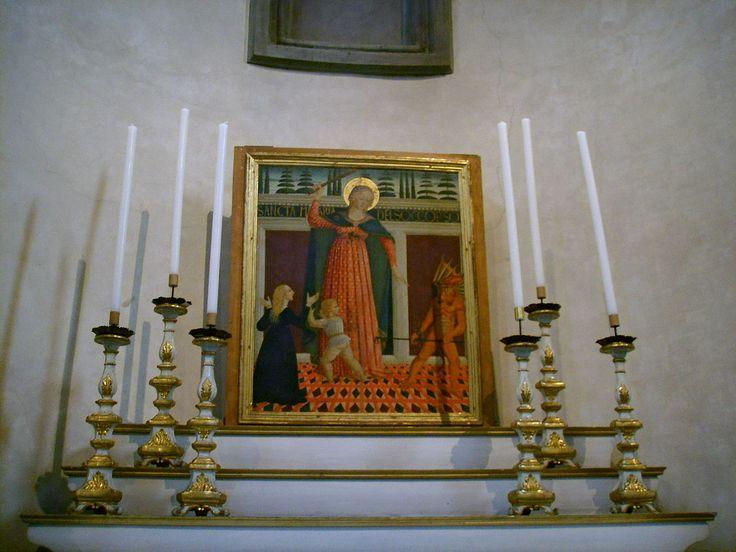 Santo spirito, cappella velluti, domenico di zanobi, madonna del soccorso, ante 1485 - Category:Santo Spirito (Florence) - Interior - Wikimedia Commons