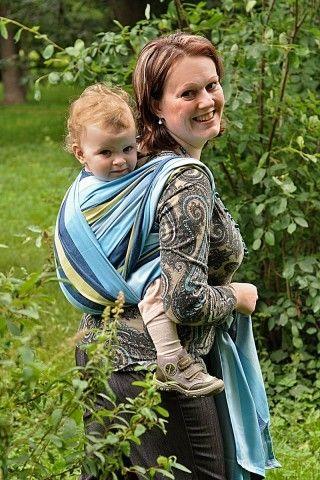 Šátek na nošení dětí Exlusiv Line vzor MOŘE