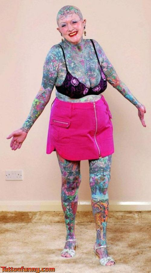 Grannys Got It Going On Tattoo Sexy Women Fashion -2197