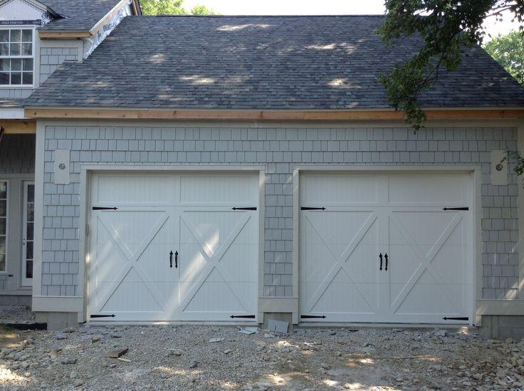C H I 5434 White Carriage House Door, United Garage Door Pittsburgh
