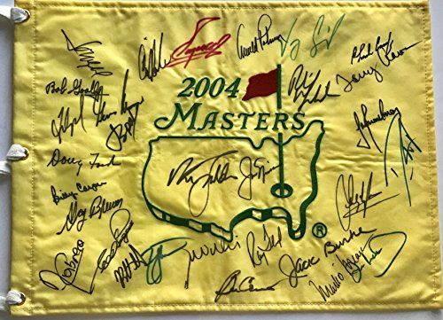 Masters golf flag signed 30 champs Jordan Spieth Jack Nicklaus Arnold Palmer augusta national beckett loa Masters golf tournament pin flag signed by 30 former champions authentic Masters golf tournament memorabilia investment quality Masters golf memorabilia https://luxury.boutiquecloset.com/product/masters-golf-flag-signed-30-champs-jordan-spieth-jack-nicklaus-arnold-palmer-augusta-national-beckett-loa/