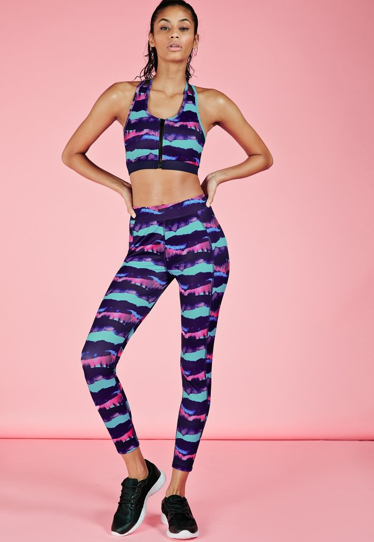 Make a statement at the gym this season in these standout multi coloured leggings! Super comfy, easy to move in and in a figure flattering fit these are the only gym leggings you'll want to be seen working out in. Whether you're on a run or...