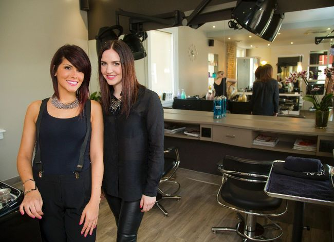Thelma Bento and Katie Foster are co-owners of Taz Hair Co., which opened at 230 Piccadilly St. in March. (MIKE HENSEN, The London Free Press)