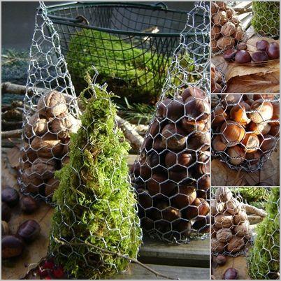Sapins décoratifs aux couleurs d'automne !!!...