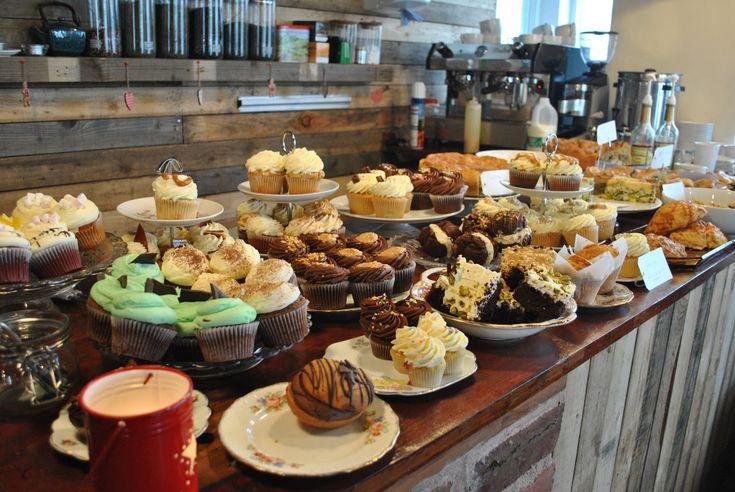 Cake display inside the cafe pinterest shops