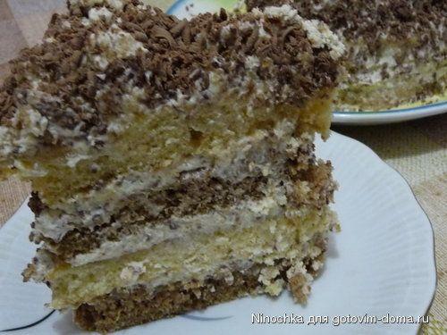 Нежный торт на сметане