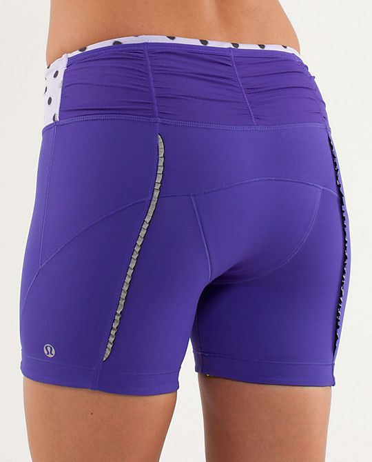 Velo Vixen Short by @lululemon athletica = the cutest, most feminine cycling shorts ever (with butt ruffles!) $78,  size 4-12.