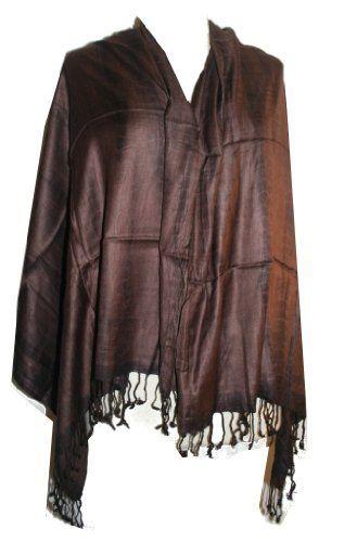 #401 Pashmina Shawl Tie Dye Wrap Throw:32X72 inches Choco Brown Agan Traders. $16.99