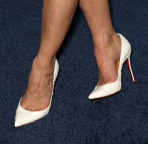"From Day to Night: Keri Russell Transforms Her Look in Louboutin ""Batignolles"" Pumps"
