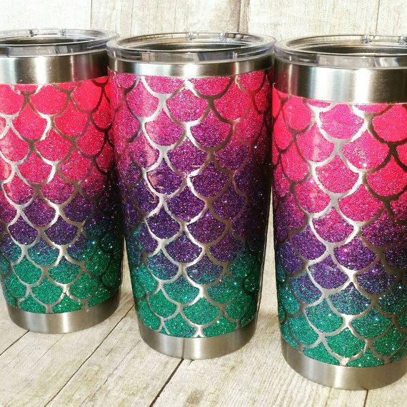 Yeti Glitter Yeti MERMAID Glitter Yeti by TornadoAlleyDesign