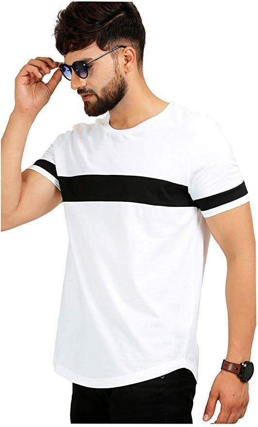 8f5777c1f4e4 Fit Type: Regular Fit 100% Cotton fabric, plain white and black Half sleeves