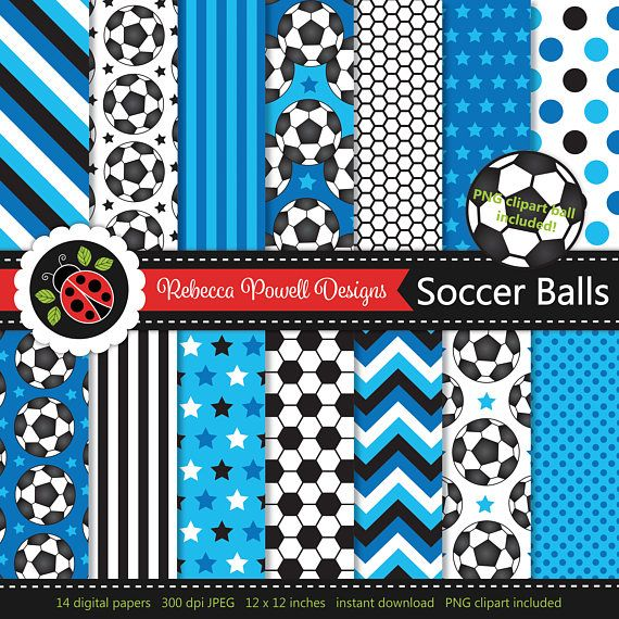 Soccer/ football digital paper set which includes a clipart PNG soccer ball! Great for crafts, scrapbooking, commercial and digital use. Available from Etsy & Teachers Pay Teachers #etsy #etsyseller #etsyshop #teacherspayteachers #soccer #football #sports #supplies #commercialuse #pattern #digitalpaperset #printablepapers #papers #crafts #scrapbooking #soccerballs #footballs #digitaldownload #digitalbackgrounds #blue #clipart #resources #instantdownload #jpeg #png #stars #spots #stripes