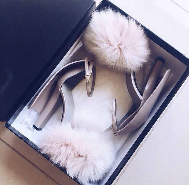 Deluxe ladies Women party shoes sweet covered heel romantic fur sandals high heel summer newest style dress shoes free shipping - Pandora Fashion