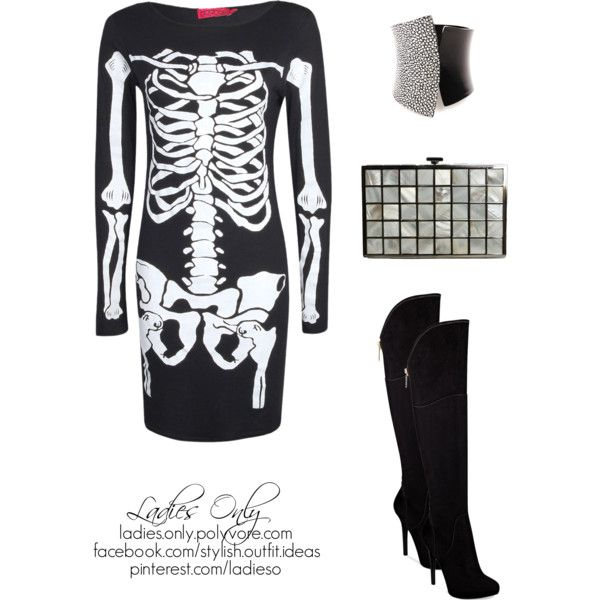 """the walking skeleton"" by ladies-only on Polyvore"