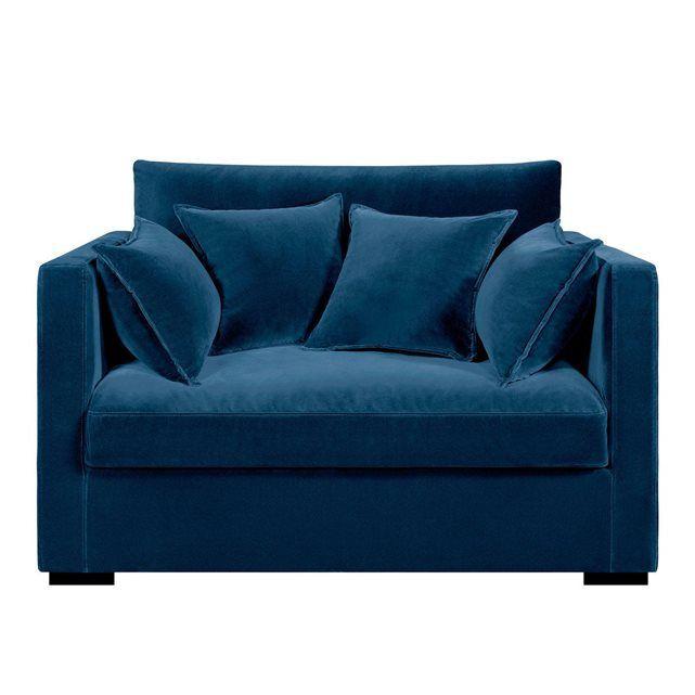 Canapé fixe 2 places NÉO KINKAJOU, velours.Fabrication française.      Une assise très profonde et une ligne contemporaine au confort particulièrement douillet.Confort d'assise : accueil moelleux, soutien souple.Confort dossier : moelleux et enveloppant.Assise : haute et profonde.Dimensions du canapé NÉO KINKAJOU :- L130 x H85 x P110 cm.- Assise : L106 x H43 x P 65 cm.Description du canapé NÉO KINKAJOU :Revêtement :- Velours 100% polyester.- Existe également en lin froissé et en coton/lin…