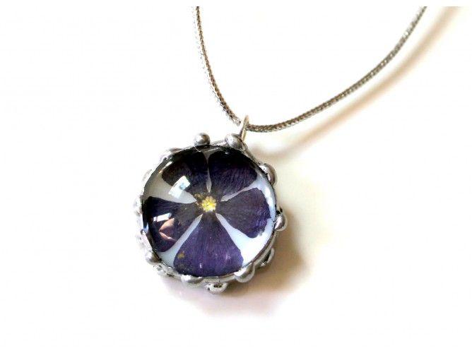 Purple flower round dome2