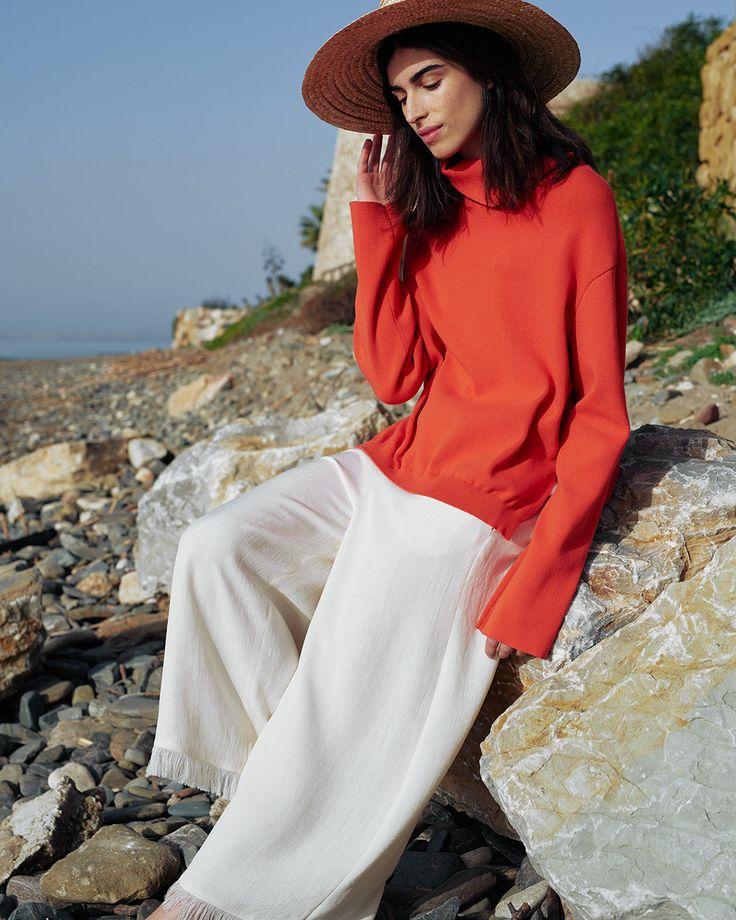 #Nanushka LUMIX Knit Sweater, Red