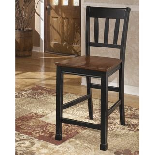 Shop for Signature Design by Ashley Owingsville Black/ Brown Barstool (Set of 2). Get free shipping at Overstock.com - Your Online Furniture Outlet Store! Get 5% in rewards with Club O! - 16132543