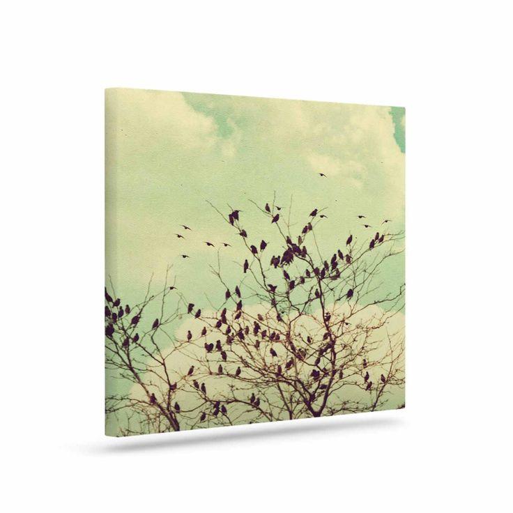 "Sylvia Coomes ""Birds of a Feather"" Green Brown Canvas Art"