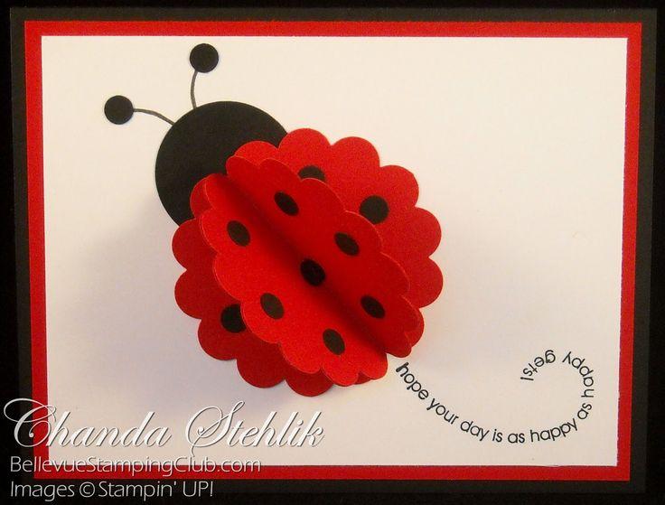 Ladybug card...adorable use of a scalloped circle