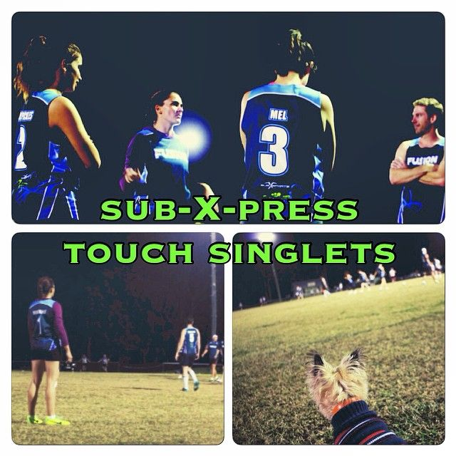 Team Fusion in our sub-X-press touch singlets. Delivered in 3-5 working days. Priced from $25. Customised with your own colour, logo or design! @subxsports #subxsports #touchfootball #trl #touch #fusion #dog #puppy #teamwear #sport #game #events #partyshirts #express #expressshirts #uniforms