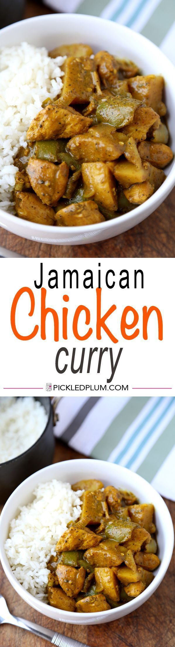 Jamaican Chicken Curry Recipe - Hot and Spicy! Easy curry recipe with assertive flavors. Simple, tasty | http://pickledplum.com