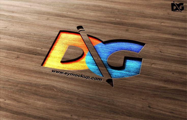 Free Curved Psd Logo Mockup Free Logo Mockup Logo Mockup Mockup Free Psd