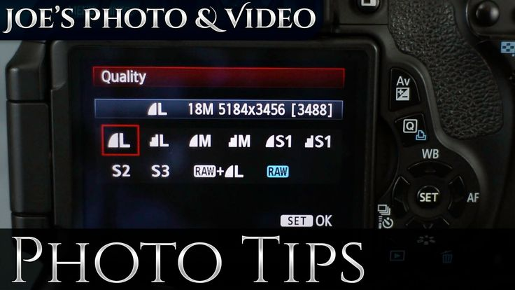 How To Switch Between RAW & Jpeg On A Canon DSLR | Photography Tips - YouTube