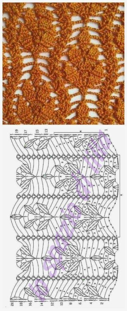 lo spazio di lilla: Punti all'uncinetto con schemi / Crochet stitches charts