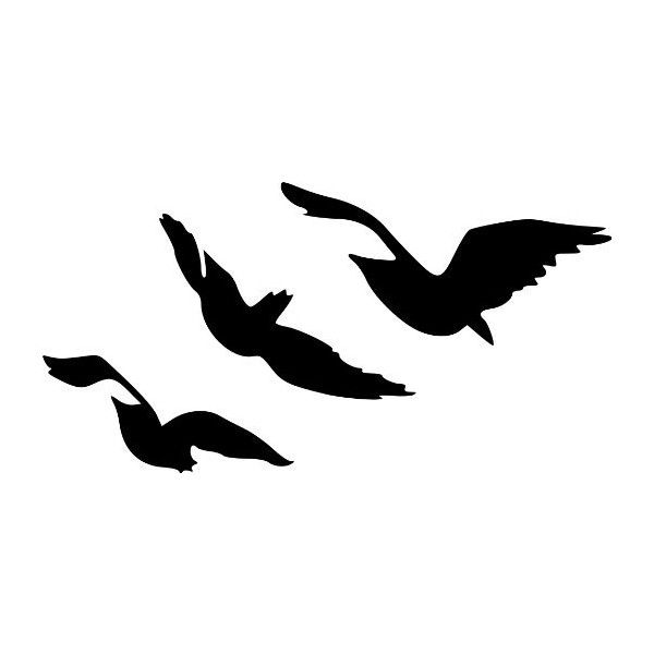 Divergent Tris Raven Tattoo Flying Birds Vinyl Wall Decal Sticker... ❤ liked on Polyvore