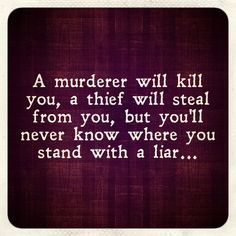 Narcissists are liars!