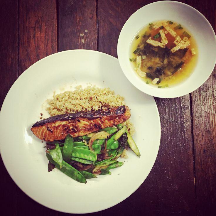 Teriyaki Salmon with quinoa rice