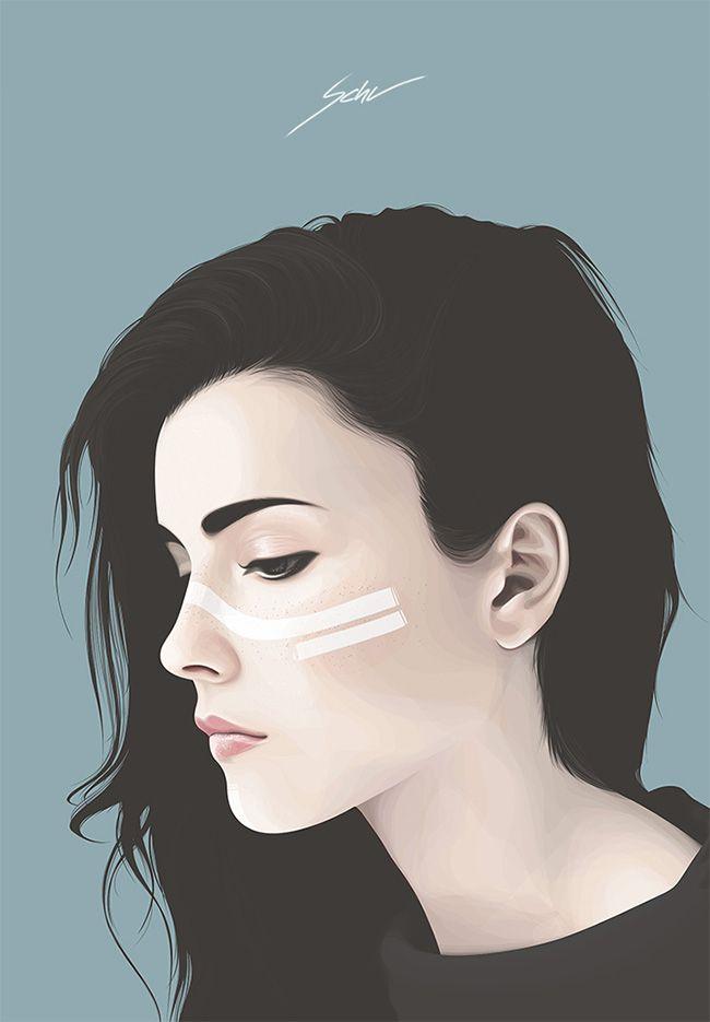 Yuschav Arly #digital #illustration #portrait